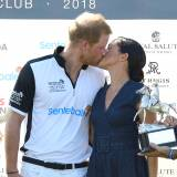Meghan Markle i książę Harry na Sentebale Polo 2018 w Windsorze, 26.07.2018.