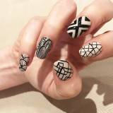 Manicure black & white