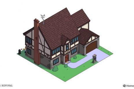 Dom kreskówkowych Simpsonów w 8 aranżacjach