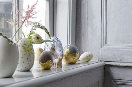 Wielkanocne dekoracje na okno