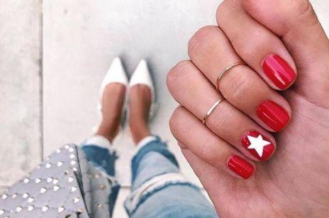 Czerwone paznokcie na nowo - trendy 2018