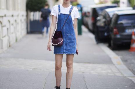 Sukienka ogrodniczka - jak ją nosić, żeby nie wyglądać infantylnie?