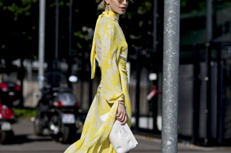 Żółta sukienka – gorący mikrotrend na lato 2019 prosto z modnych ulic Paryża