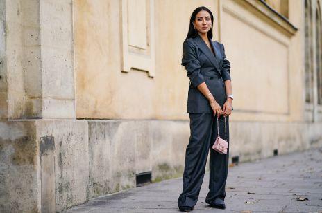 Eleganckie ubrania w odcieniu błękitnej szarości to najbardziej zaskakujący trend z czerwonego dywanu. Jak nosić gołębi szary?