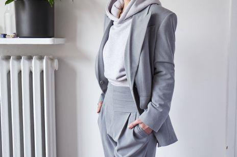 Jak nosić szarą bluzę? 3 sposoby pokazuje Maja Naskrętska, stylistka ELLE