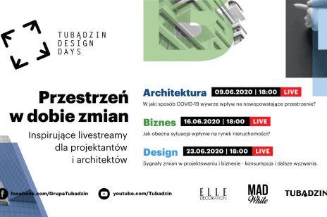 Interesujące spotkania online w ramach Tubądzin Design Days