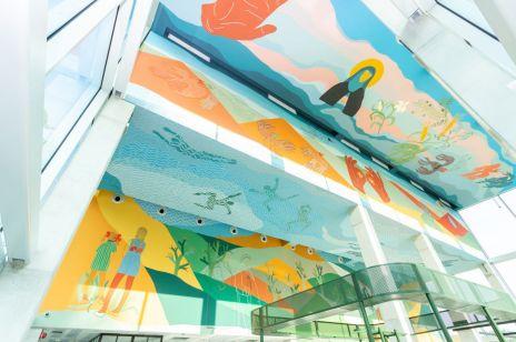 Fresk Alicji Białej w Concordia Design Wrocław