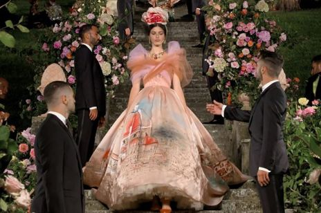 Dolce & Gabbana Alta Moda. Polska modelka zamknęła pokaz słynnego włoskiego domu mody