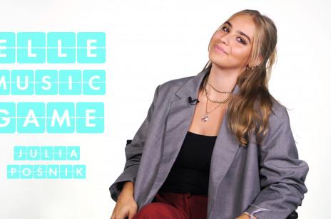 Julia Pośnik śpiewa i rapuje piosenki schaftera, Billie Eilish i Harry'ego Stylesa [ELLE Music Game]