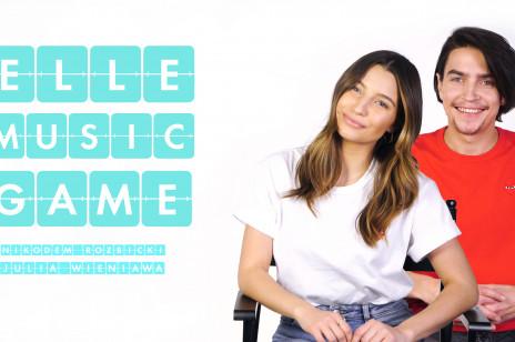 Julia Wieniawa i Nikodem Rozbicki śpiewają piosenki o miłości w nowym odcinku ELLE Music Game na walentynki. To pierwszy wspólny występ pary