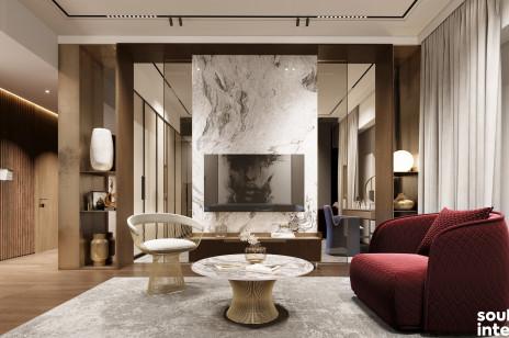 Apartament na Złotej. Komfort w barwach natury