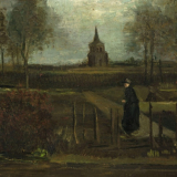 """Wiosenny ogród"" (""The Parsonage Garden at Nuenen in Spring""), Vincent van Gogh"