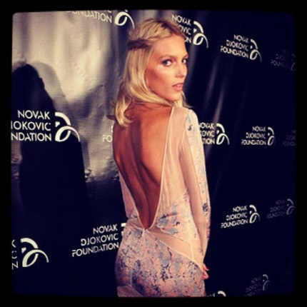 Anja Rubik na gali Novak Djokovic Foundation