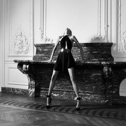 Anja Rubik w kampanii Saint Laurent Paris