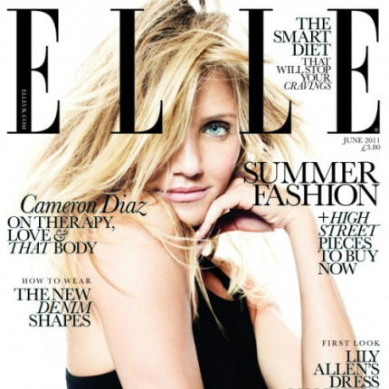 Cameron Diaz w ELLE UK