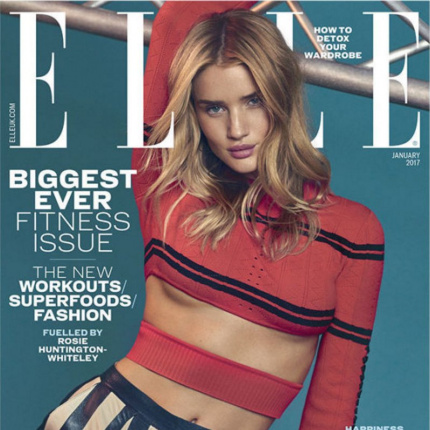 Rosie Huntington-Whiteley na okładce ELLE UK!