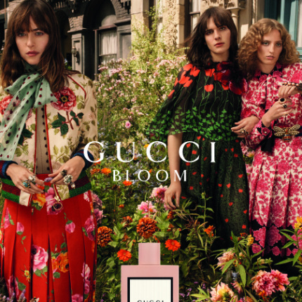 Dakota Johnson w kampanii perfum Gucci Bloom