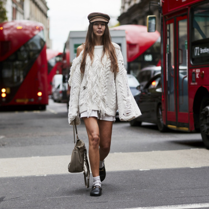 Street fashion: London Fashion Week wiosna-lato 2018