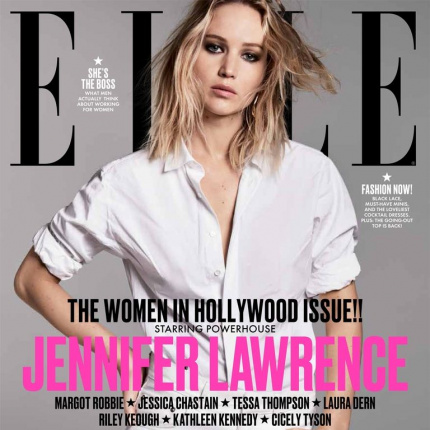 Jennifer Lawrence, Margot Robbie i Jessica Chastain dla ELLE US