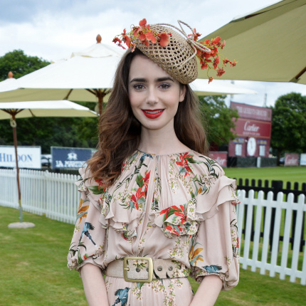 ELLE Spy: Lily Collins na imprezie Cartier Queen's Cup Polo Final