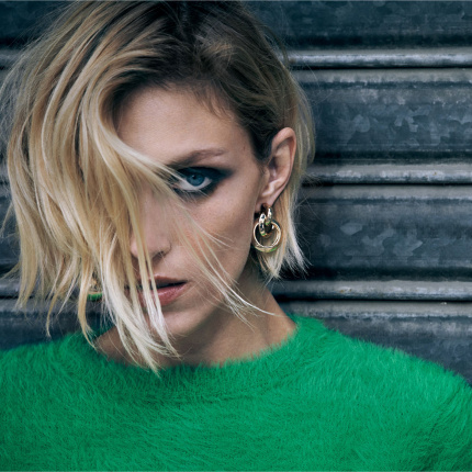 "Anja Rubik w lookbooku Zara ""the Knits"" jesień-zima 2018/2019"