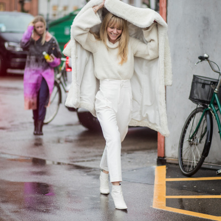White total look na jesień 2019