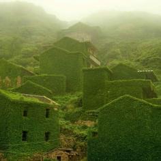 Opuszczona wioska rybacka w Chinach