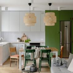 Zielone mieszkanie na warszawskim Bemowie, projekt: Gabriela Bartczak, Design My Deer