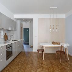 Mieszkanie w zakopiańskiej kamienicy, projekt: Agata Popieluch