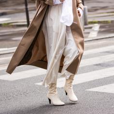białe botki street fashion
