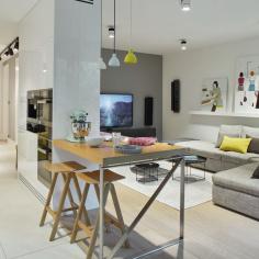 Jasne mieszkanie na Bielanach, projekt: Bibianna Stein-Ostaszewska, Bibi Space
