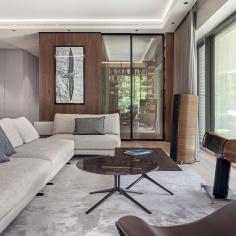 Warszawski apartament z widokiem na park, projekt: pracownia BAJERSOKÓŁ team