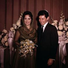 Eddie Fisher i Elizabeth Taylor chwilę po swoim ślubie