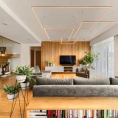 Przytulny dom dla czteroosobowej rodziny, projekt: Nanostudio, Marcin Macieszko, Magda Sipak
