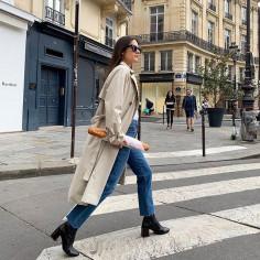 modne stylizacje Francuzek na Instagramie