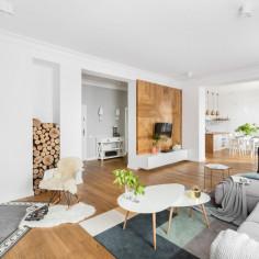 Mieszkanie z klimatycznym piecem kaflowym, projekt: FUGA Architektura Wnętrz