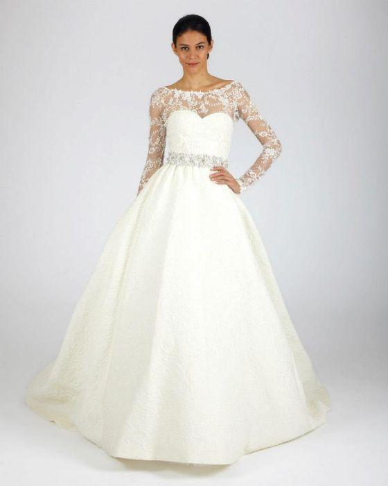 0616d36419 Suknie ślubne Oscar de la Renta jesień 2013 - Elle Wedding - trendy ...