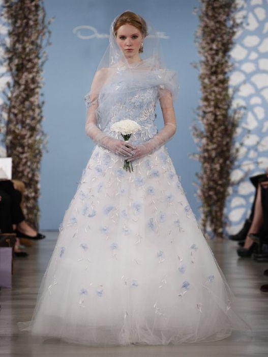 1b6c2670b8 Suknie ślubne 2014  Oscar de la Renta - Elle Wedding - trendy wiosna ...
