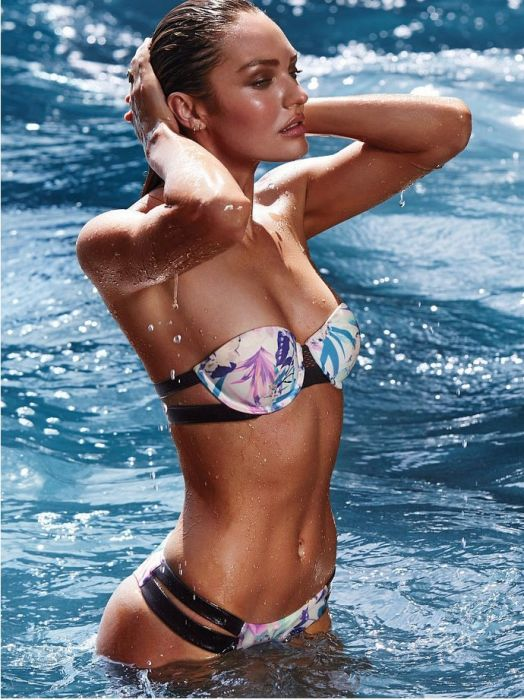 133357b381b26c Candice Swanepoel w kostiumach kąpielowych Victoria's Secret - Elle ...