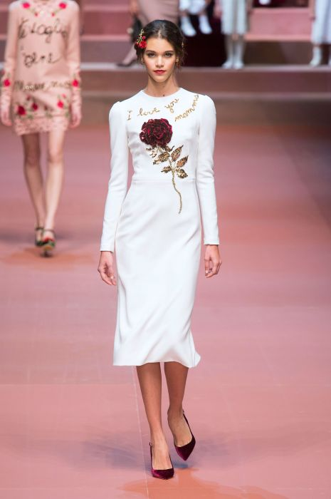 Dolce   Gabbana jesień-zima 2015 2016 - Elle.pl - trendy wiosna lato ... 977a088f433