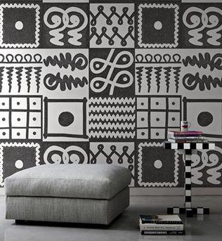 Biało Czarna I Czarno Biała ściana Inspiracje Elle Decoration