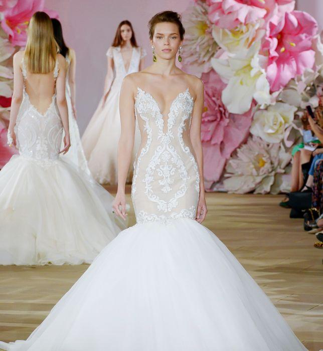 864129e3 Suknie ślubne Ines di Santo wiosna 2017 - Elle Wedding - trendy ...