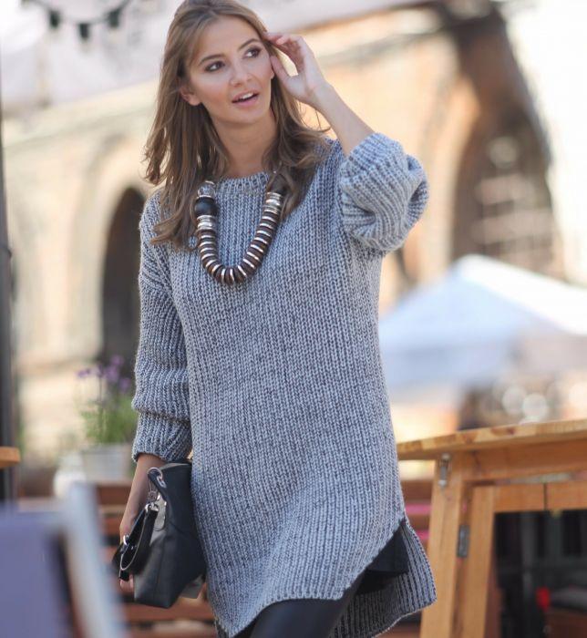 0c1916caef Długie swetry - Elle.pl - trendy wiosna lato 2019  moda