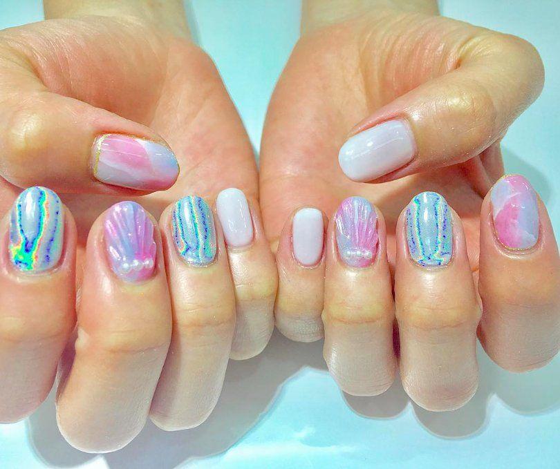 Paznokcie 2017 Mermaid Nails Ellepl Trendy Wiosna Lato 2019