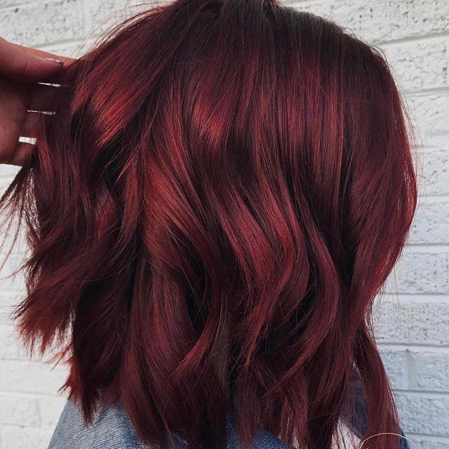 Mulled Wine Hair Najmodniejszy Kolor Włos 243 W Na 2018 Rok