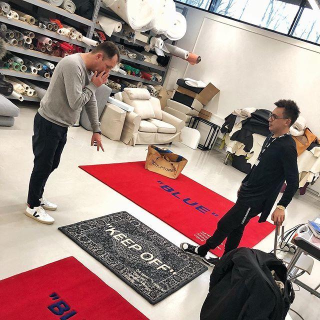 Dywanik Off White X Ikea Elle Decoration Trendy Jesień