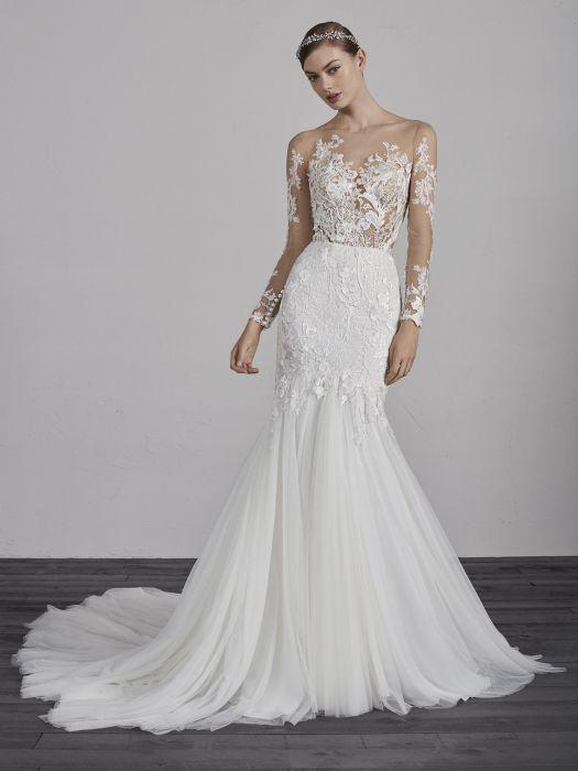Suknie ślubne Pronovias 2019 Elle Wedding Trendy Wiosna Lato
