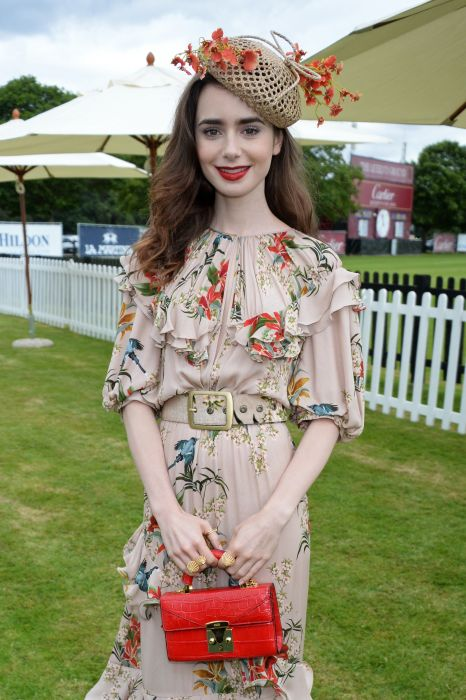 Lily Collins na imprezie Cartier Queen's Cup Polo Final, 17.06.2018.
