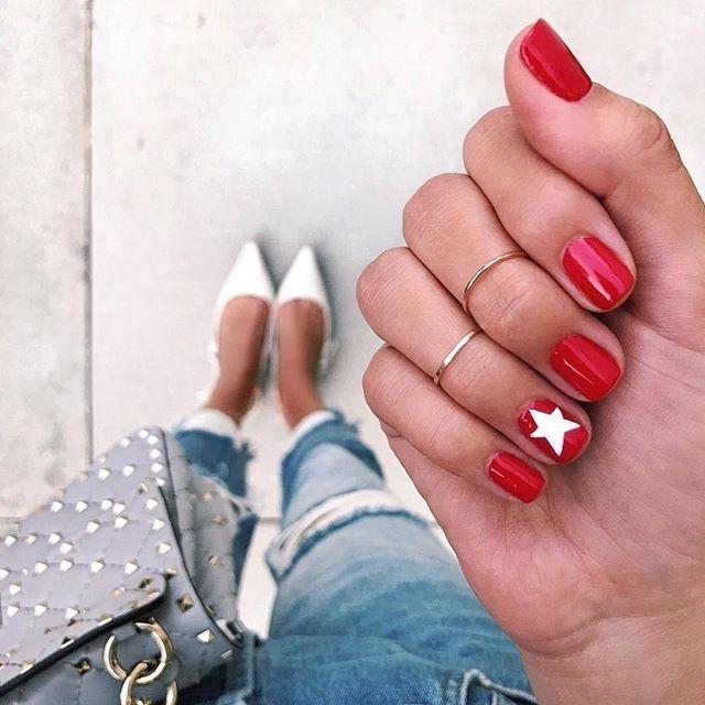 Czerwone Paznokcie Na Nowo Trendy 2018 Ellepl Trendy Jesień