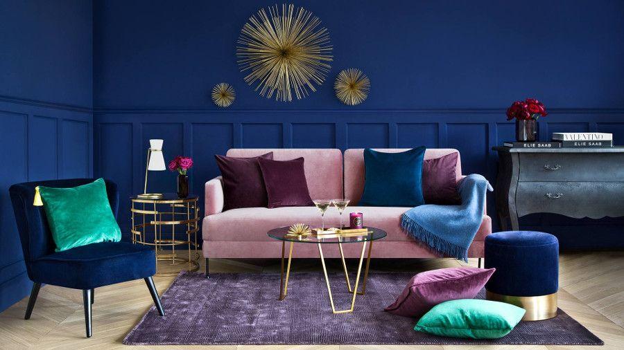 Welurowa Sofa Do Salonu Elle Decoration Trendy Wiosna Lato 2019